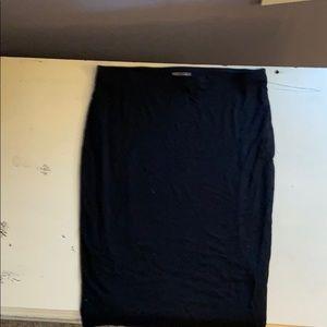 Vince Camuto Black Knit Pencil Skirt